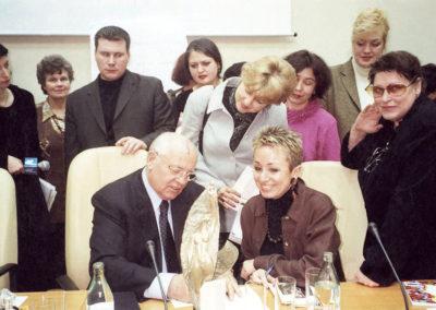 Avec Mikhaïl GORBATCHEV- Moscou 2002