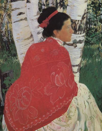 Boris Koustodiev-Portrait de la femme de l'artiste