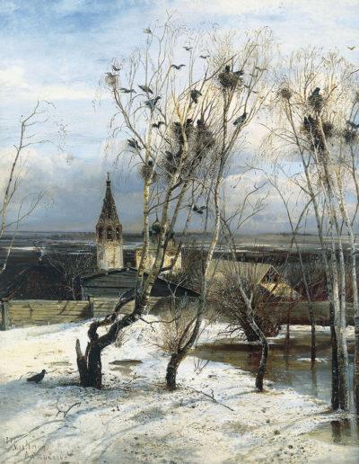 Alekseï Savrassov-Les corbeaux sont arrivés