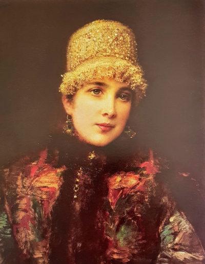 Constantin Makovsky-Beauté russe à la coiffe