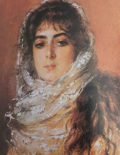 Constantin Makovsky- Portait de la femme du peintre