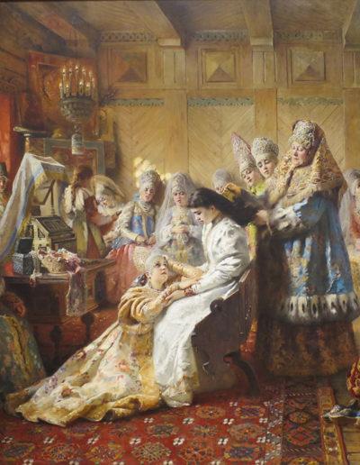 Constantin Makovsky-Préparation au mariage
