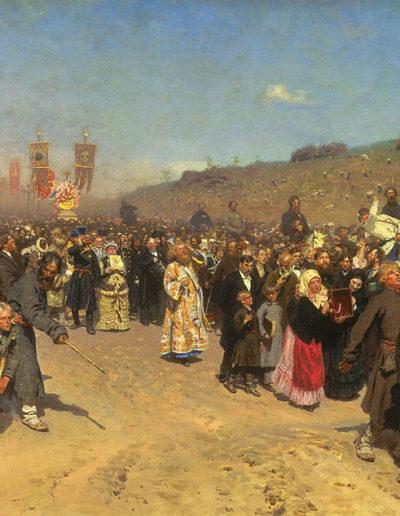Ilya Répine-La procession dans la ville de Koursk