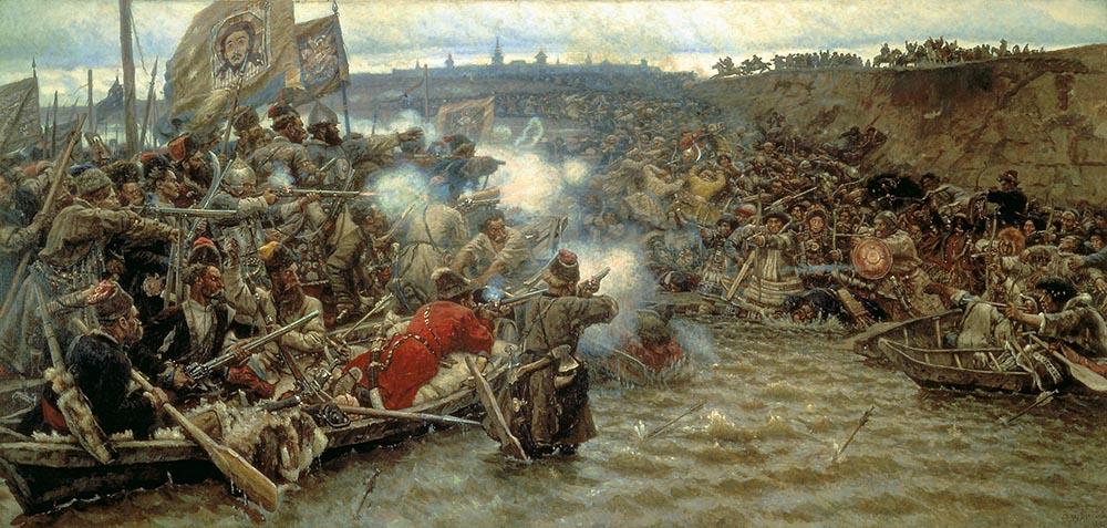Vassily Surikov-La conquête de la Sibérie par Emak