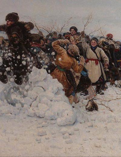 Vassily Surikov-La prise de la forteresse de neige