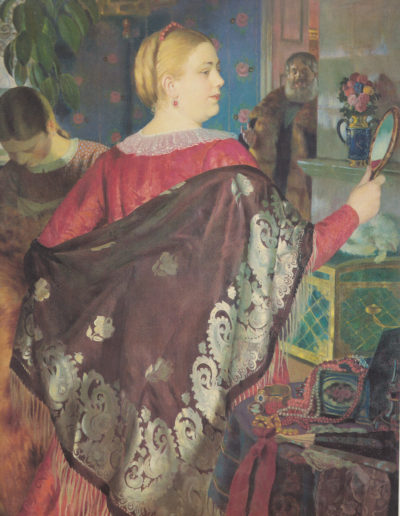 Koustodiev - Marchande au miroir - 1920