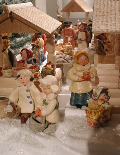 Village russe au marché - Pâtes à sel
