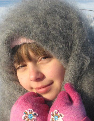 Petite russe avec châle d'Orenbourg